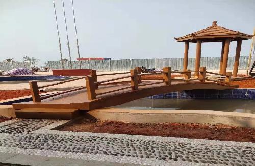 新埠岛四角凉亭带拱桥
