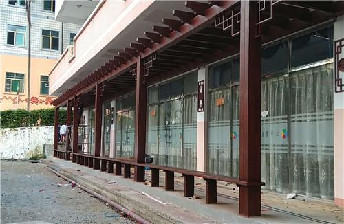 海南花架防腐木长廊