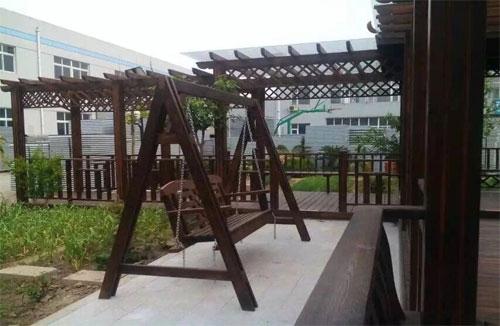海南防腐木摇椅