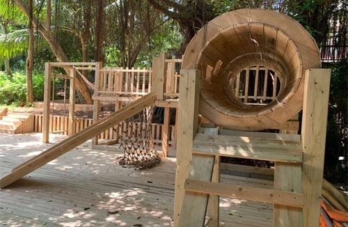 海口幼儿园户外木结构